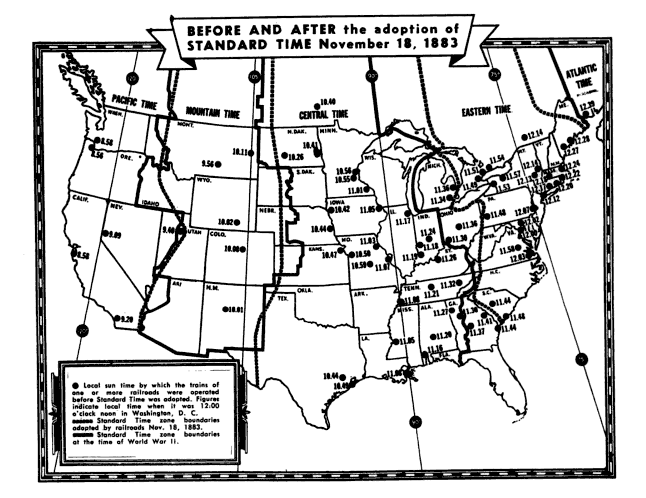 Time Zones Before And After A Budding Sociologists - Us time zone map black and white